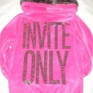 VICTORIA SECRET PINK BLING INVITE ONLY HOODIE FUR SZ L