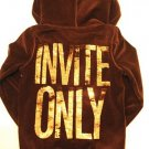 VICTORIA SECRET PINK BLING SEQUIN CHOCOLATE HOODIE L