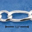 """STERLING SILVER 20""""  FIGAROA CHAIN (5 MM) (fig120)"""