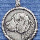Sterling Silver Beagle ID Charm ( CH-1198 )