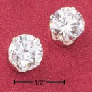 8MM ROUND CUBIC ZIRCONIA POST EARRINGS (ea1943)