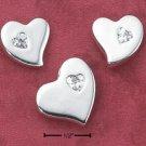 POST EARRINGS W/ HEART CZ & MATCHING PENDANT (ea2530)