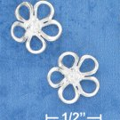 "STERLING SILVER 1/2"" FLOWER POST EARRINGS (ep640)"