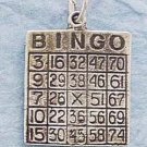 STERLING SILVER JEWELRY BINGO CARD CHARM (ch433)