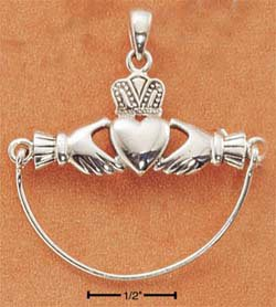 STERLING SILVER JEWELRY CLADDAH CHARM HOLDER (cmh20)