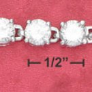 """STERLING SILVER JEWELRY 7"""" 6MM CLEAR ROUND CZ (br2627)"""