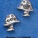 STERLING SILVER MUSHROOM POST EARRINGS  (ep552)