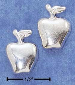 STERLING SILVER APPLE POST EARRINGS  (ep527)