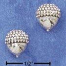 STERLING SILVER ACORN POST EARRINGS  (ep525)