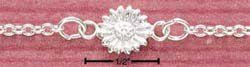 """STERLING SILVER 9"""" DAISY ANKLET (br1068)"""