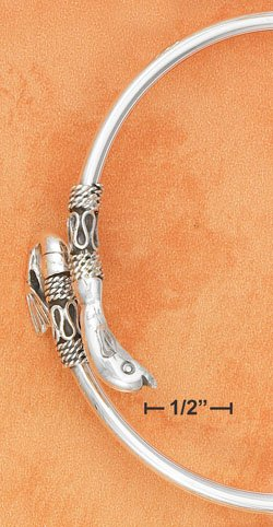 STERLING SILVER JEWELRY BALI STYLE DOLPHIN ARM BAND  (br2744)
