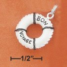 "STERLING SILVER JEWELRY ENAMEL ""BON VOYAGE"" LIFE SAVING RING (ch3050)"