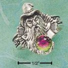 STERLING SILVER JEWELRY SMALL WIZARD RING W/ AUSTRIAN BALL SIZES 6-12 (cx88)