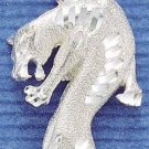 STERLING SILVER JEWELRY LARGE SATIN/DC COUGAR CHARM  (ch25)
