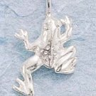 STERLING SILVER JEWELRY SMALL DC FROG CHARM (ch440)