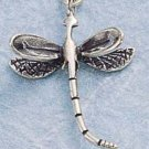 STERLING SILVER JEWELRY DRAGON FLY CHARM  (ch892)