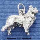 STERLING SILVER JEWELRY 3D COLLIE CHARM (ch1005)