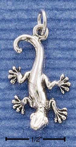 STERLING SILVER JEWELRY HP GECKO LIZARD CHARM  (ch1016)