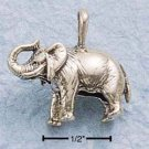 STERLING SILVER JEWELRY ANTIQUED STANDING ELEPHANT CHARM (ch695)