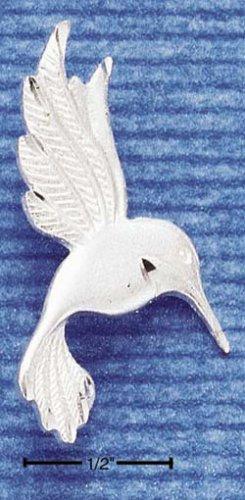 STERLING SILVER JEWELRY SATIN/DC HUMMINGBIRD CHARM (ch1091)
