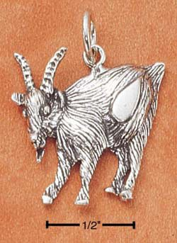 STERLING SILVER JEWELRY ANTIQUED GOAT CHARM (ch1801)
