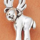 STERLING SILVER JEWELRY WHIMSICAL MOOSE CHARM (ch1803)