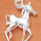 STERLING SILVER JEWELRY SMALL PRANCING HORSE CHARM (ch1805)