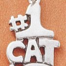 "STERLING SILVER JEWELRY ""#1 CAT"" CHARM (ch1808)"