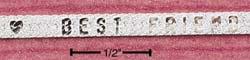 "STERLING SILVER 7""  HERRINGBONE ""BEST FRIENDS"" BRACELET (br380)"