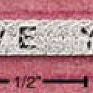 """STERLING SILVER 7""""  HERRINGBONE """"I LOVE YOU"""" BRACELET (br382)"""