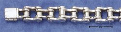 """STERLING SILVER JEWELRY 8.5"""" BICYCLE CHAIN BRACELET (10MM WIDE) (br1645)"""