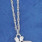 "STERLING SILVER JEWELRY 16""-18"" ADJ PEND ROPE CHAIN W/ 12MM RHODONITE HEART NECKLACE (nk1117)"
