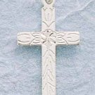 STERLING SILVER JEWELRY SMALL DC CROSS W/ CENTER FLOWER AND VINE CHARM (ch103)