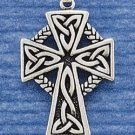 STERLING SILVER JEWELRY FANCY CELTIC BRAID CROSS CHARM (ch1439)