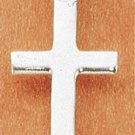 STERLING SILVER JEWELRY SMALL HIGH POLISH FLAT SIMPLE CROSS PENDANT (ch1750)