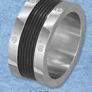 STAINLESS STEEL BAND WITH SCREW HEAD DESIGN AND LINED RUBBER INSET (sr3108)