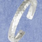 """STERLING SILVER JEWELRY HP HAMMERED 3/8"""" CUFF BRACELET W/ SEMI-CURVED TOP (br2805)"""