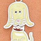 STERLING SILVER JEWELRY RP 13X18MM ENAMEL DOG CHARM (ch3694)
