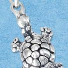 STERLING SILVER JEWELRY  THREE DIMENSIONAL TURTLE CHARM (P11631)