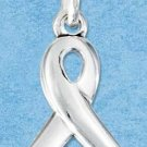 "STERLING SILVER JEWELRY RIBBON CHARM WITH ""SURVIVOR"" ON BACK (P11604)"