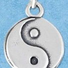 STERLING SILVER JEWELRY YIN YANG CHARM {P11608}