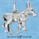 STERLING SILVER JEWELRY THREE DIMENSIONAL DONKEY CHARM (P11621)