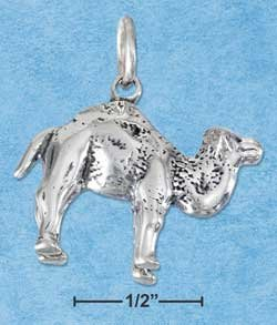 STERLING SILVER JEWELRY THREE DIMENSIONAL CAMEL CHARM {P11615}