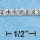 """STERLING SILVER JEWELRY RP 7"""" 3MM WIDE PALE BLUE CZ TENNIS BRACELET {P11949}"""