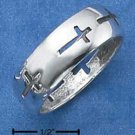 STERLING SILVER BAND RING WITH CROSS CUT OUTS {sr1851}