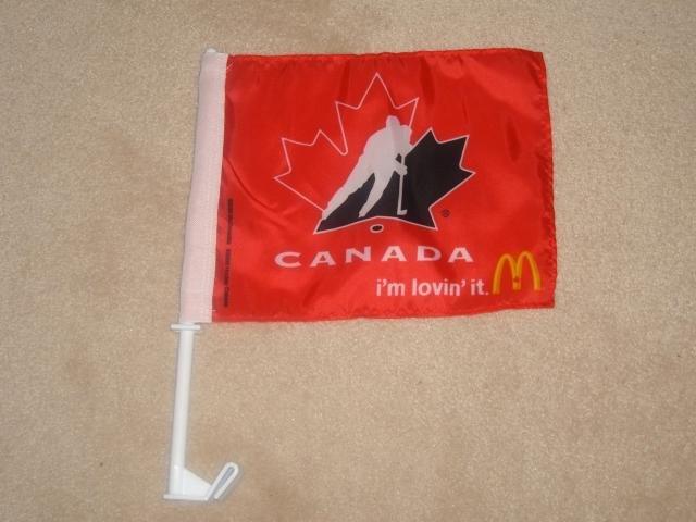 Team Canada Collectible Flag! New!