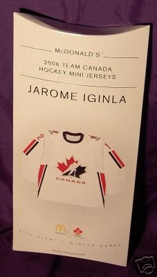 Team Canada All New & Highly Collectible Mini Jersey of Jarome Iginla # 12