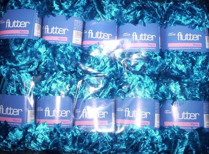FREEPOST - 10 Skein / balls x 50 gram AQUA FEATHER YARN