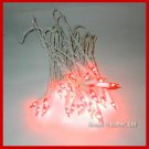3 sets Italian NOS vintage Christmas lights / Red w. WHITE CORDS