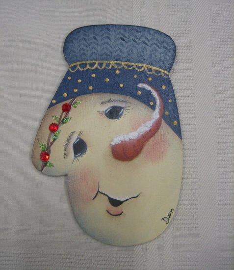 Hand Painted Snowman Ornament Design Jamie Mills Price